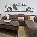 R8 Sports Car Vinyl Wall Sticker