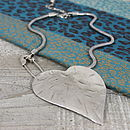 Heart On A Safety Pin Necklace