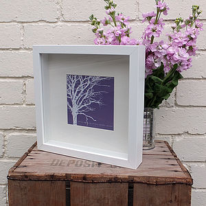 Mini Art Collection; Six 'Winter Tree' Prints - contemporary art