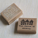 Beach Huts Personalised Rubber Stamp