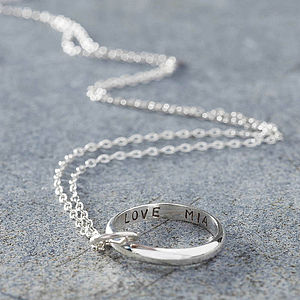 Personalised Secret Script Ring Necklace