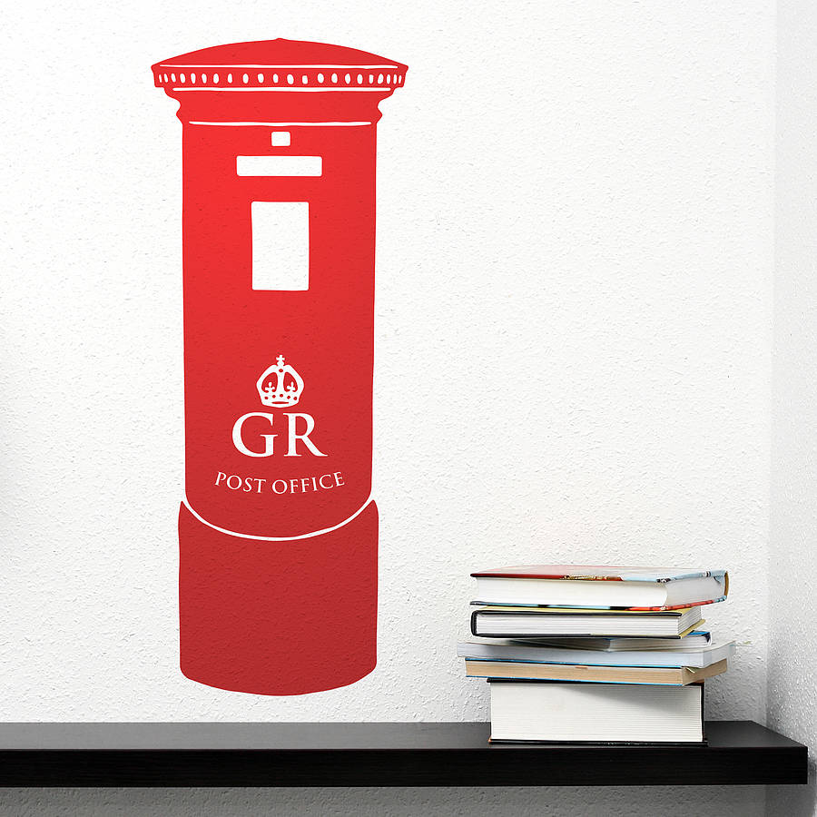British Pillar Post Box Vinyl Wall Sticker By Oakdene