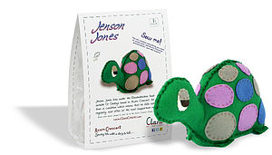 Jenson Jones Tortoise Felt Sewing Kit - gifts under £25
