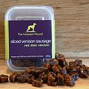 Sliced Venison Sausage For Dogs Triple Pack