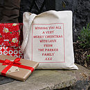 Personalised Christmas 'Gift Bag'