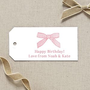 Personalised Bow Gift Tag