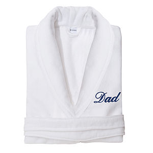 Personalised Monogrammed Velour Dressing Gown - men's fashion