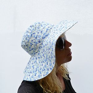 Wide Brim Sun Hat Liberty Of London Fabric - hats, scarves & gloves