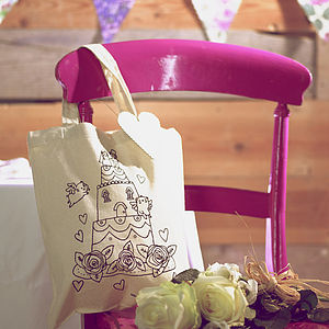 Wedding Cake Colour In Tote Bag