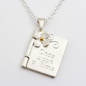 Once Upon A Time Personalised Book Locket - necklaces & pendants