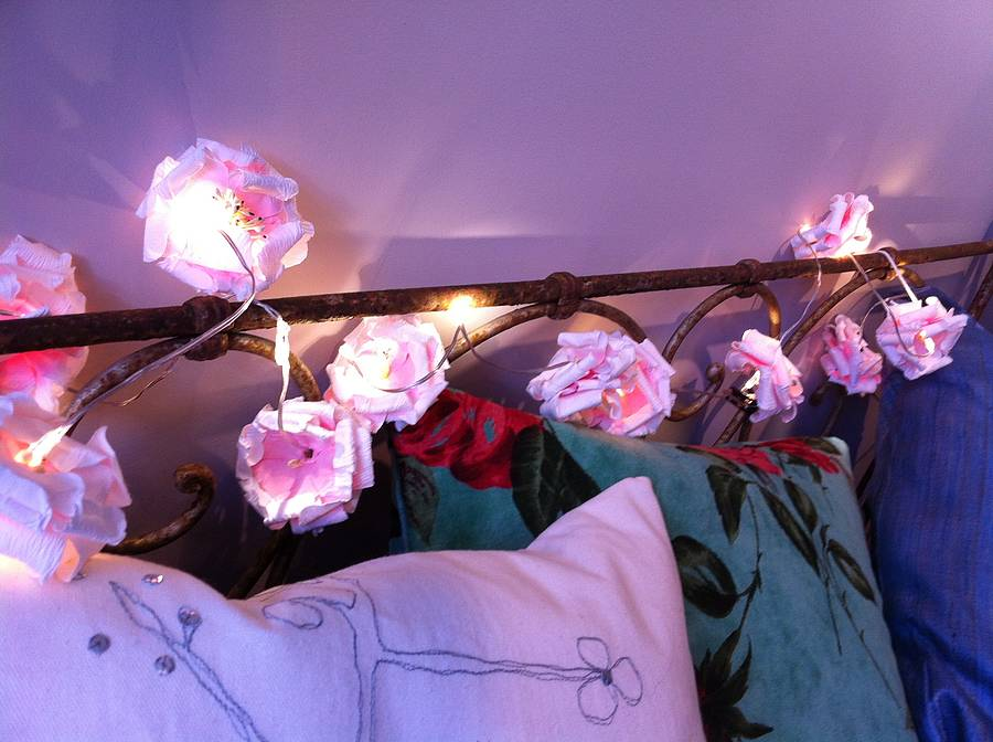 Paper rose led battery powered fairy lights by the forest co paper rose led battery powered fairy lights mightylinksfo