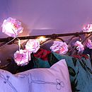 Thumb paper rose led battery powered fairy lights