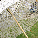 Ivory Lace Wedding Parasol