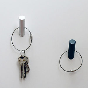 Metal Hook Magnet With Keychain - magnets