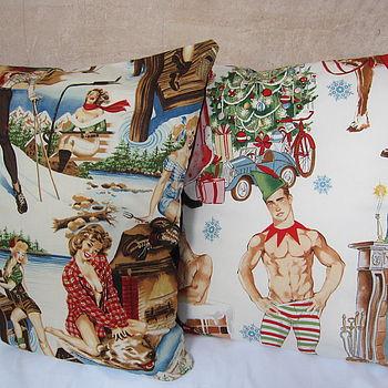 Christmas Pin Up Cushion