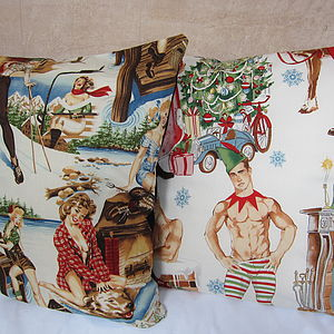 Winter Pin Up Cushion - patterned cushions