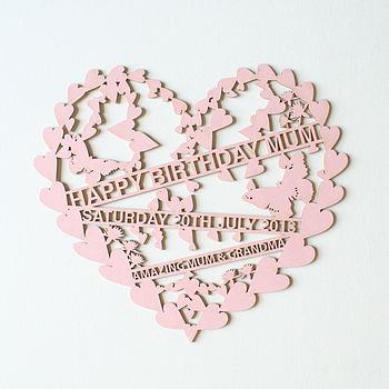 Personalised Laser Cut Card