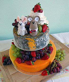 Mr And Mrs Mouse Wedding Cheesecake Topper