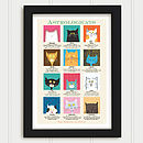 Cat Astrology Personalised Print