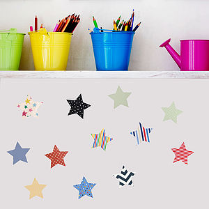 'Fabric Star' Vinyl Wall Stickers - children's room accessories