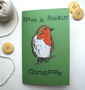 Woodland Robin Christmas Card