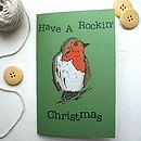Woodland Robin Christmas Card