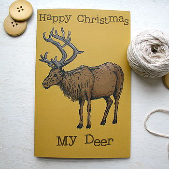 Woodland Deer Christmas Card