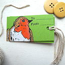 Woodland Robin Christmas Tags