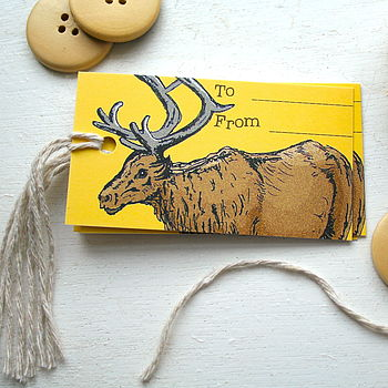 Woodland Reindeer Christmas Tags