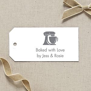 Personalised Kitchen Mixer Gift Tag - christmas labels & tags