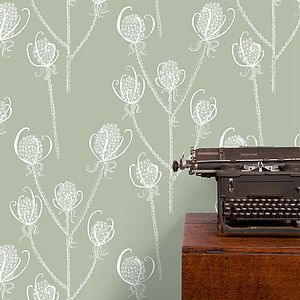 Teasels Wallpaper - living room