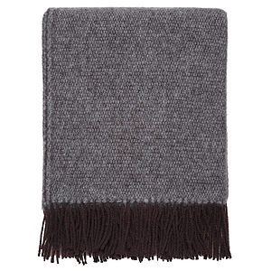 Twill Weave Wool Throw