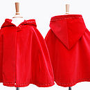 Girls Red Coat Velvet Cape Red Riding Hood