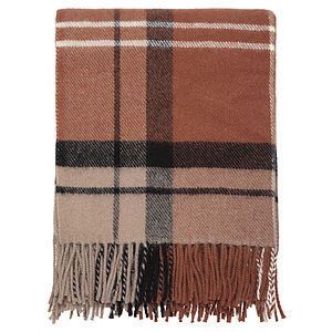 Checked Wool Throw - throws, blankets & fabric
