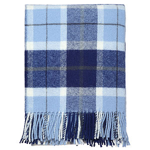 Blue Check Throw - bedding & accessories