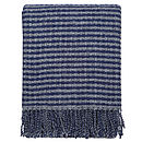 Striped Wool Blue Throw