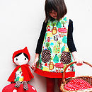 Girls Dress Red Riding Hood Fairytale Print