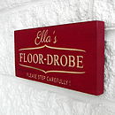 Personalised Engraved Teenager's Room Sign