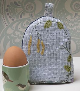 Catkins Egg Cosy - egg cups & cosies