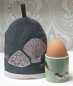 Sea Shells Egg Cosy - egg cups & cosies