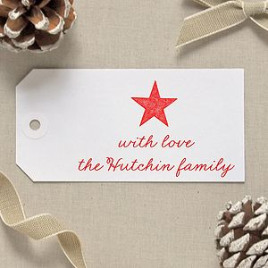 Personalised Christmas Star Gift Tags - finishing touches