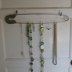 Giant Safety Pin Jewellery Hanger Or Tie Rack