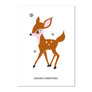Bambi Christmas Card