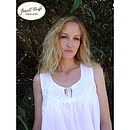 Nora Rose White Cotton Nightdress