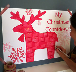 Nordic Reindeer Advent Calendar Kit - advent calendars & countdowns