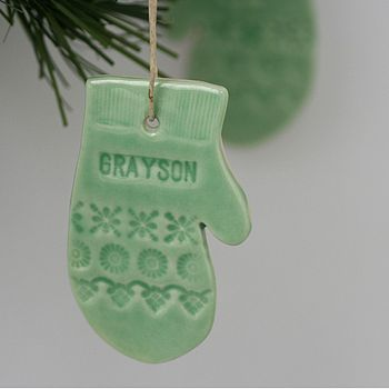 Personalised Porcelain Christmas Decoration