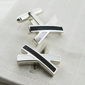 Silver Kiss Cufflinks - men's jewellery