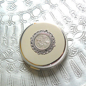 50th Or 60th Birthday Silver Handbag Mirror - compact mirrors