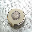 50th, 60th, 70th Or 80th Birthday Silver Handbag Mirror
