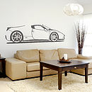 Spider Sports Car Vinyl Wall Sticker